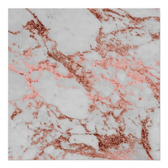 Modern faux rose gold glitter marble texture image