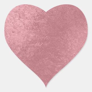 Modern faux rose gold heart sticker