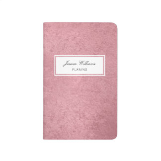 Modern faux rose gold journal