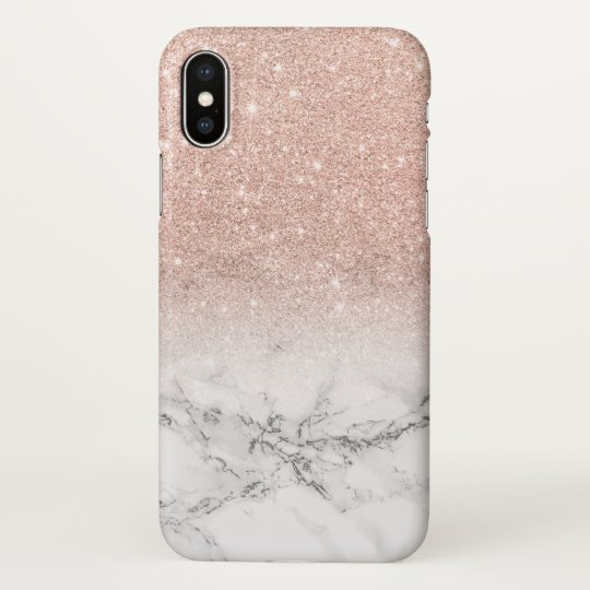 huge selection of 08980 b4206 Modern faux rose pink glitter ombre white marble iPhone case