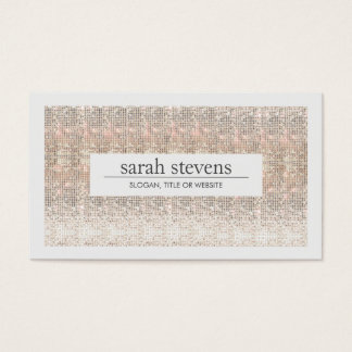 Modern Faux Sequins Beauty and Fashion Stylist Business Card