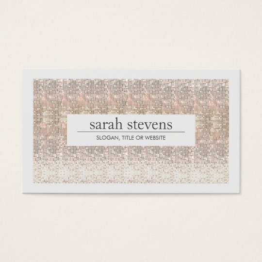 Modern Faux Sequins Beauty and Fashion Stylist Business