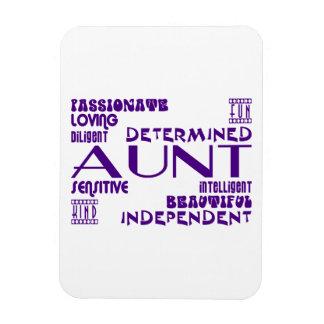 Modern Feminine Chic & Stylish Aunties & Aunts Rectangular Magnet