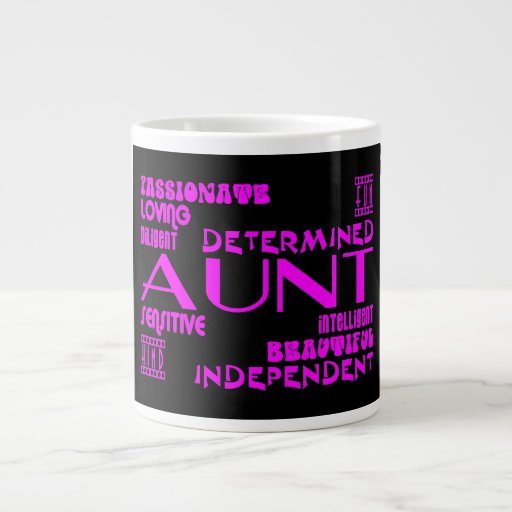 Modern Feminine Chic & Stylish Aunties & Aunts Jumbo Mug
