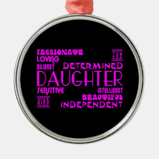 Modern Feminine Chic & Stylish Daughters Christmas Ornament