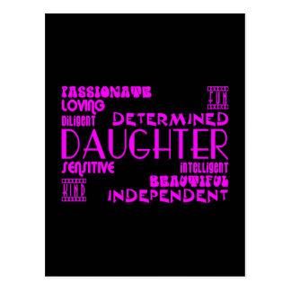 Modern Feminine Chic & Stylish Daughters Postcard