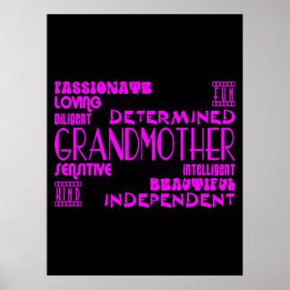 Modern Feminine Chic Stylish Grandmas Grandmothers Poster