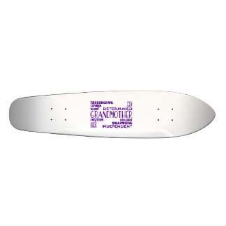 Modern Feminine Chic Stylish Grandmas Grandmothers Skate Board Deck