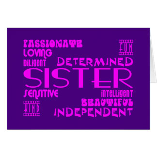 Modern Feminine Chic Stylish Sisters Cards