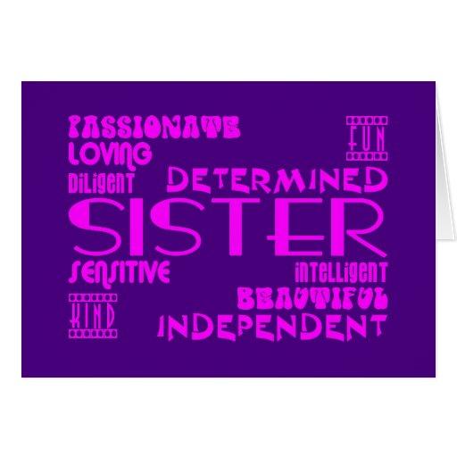Modern Feminine Chic & Stylish Sisters Cards