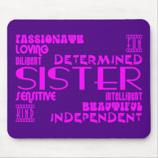 Modern Feminine Chic & Stylish Sisters Mouse Pad