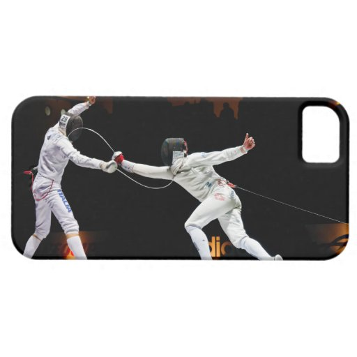 Modern Fencing Sword Fighting Dual iPhone 5 Covers
