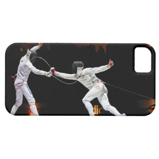 Modern Fencing Sword Fighting Dual iPhone 5 Cases