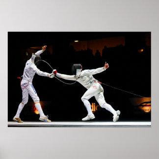 Modern Fencing Sword Fighting Dual Print