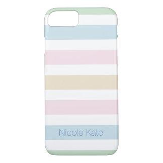 modern fine cool pastel color monogram iPhone 8/7 case