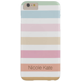 modern fine pastel color monogram barely there iPhone 6 plus case