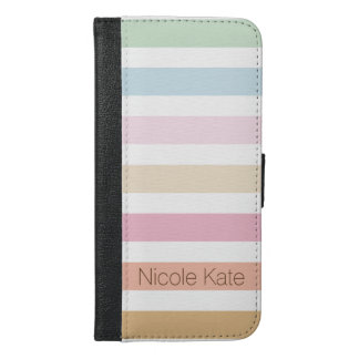 modern fine pastel color monogram iPhone 6/6s plus wallet case