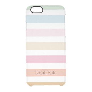 modern fine pastel color monogram iPhone 6 plus case