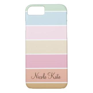 modern fine pastel color monogram iPhone 7 case