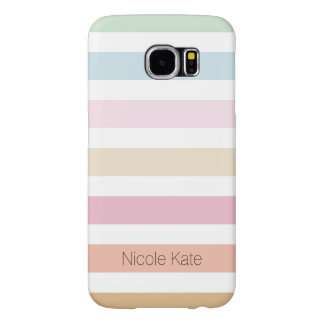 modern fine pastel color monogram samsung galaxy s6 cases
