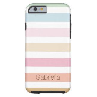 modern fine pastel colors tough iPhone 6 case