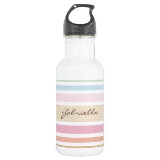modern fine pastel colors monogram 532 ml water bottle