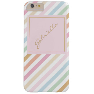 modern fine pastel colors monogram barely there iPhone 6 plus case