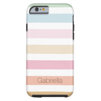 modern fine pastel colors tough iPhone 6 case