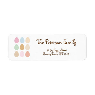 modern fine pastel easter eggs return address label