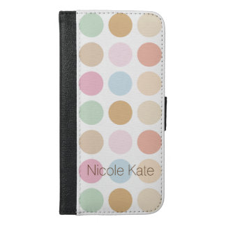 modern fine polka dots pastel colors