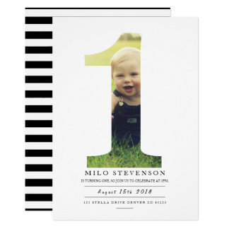 Modern First Birthday Party Invite