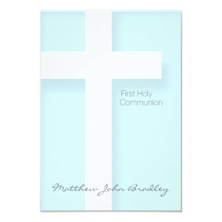 Modern First Holy Communion in Blue Card