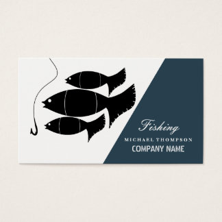 Modern Fish & Hook, Fishing Business Card