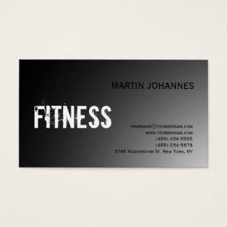 Modern Fitness Sport Gray Business Card