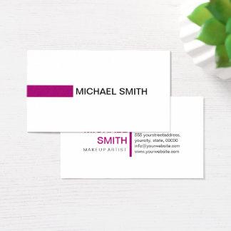 Modern Flirt Elegant Professional Plain White Business Card