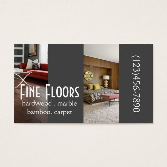 Modern Flooring Hardwood Marble Construction Business Card