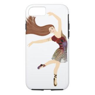 Modern Floral Ballerina dancer monogram iPhone 8/7 Case