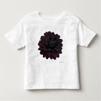 Modern Floral Black Dahlia Flower Toddler T-Shirt