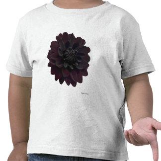 Modern Floral Black Dahlia Flower Tshirt