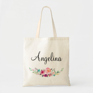 Modern Floral Bridesmaid Personalized-5 Tote Bag
