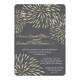 Modern Floral Chrysanthemum Gray and Yellow Card