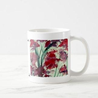 Modern Floral CricketDiane Art Basic White Mug