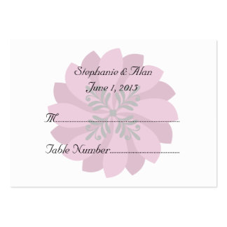 Modern Floral Crimson Wedding Place Cards Pack Of Chubby Business Cards