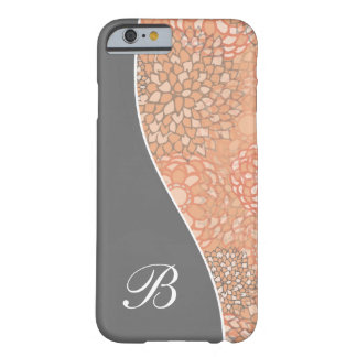 Modern Floral Curves Personalized Barely There iPhone 6 Case