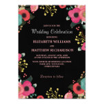 Modern Floral Design Custom Wedding Invitations