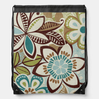 Modern Floral Designs Drawstring Bag