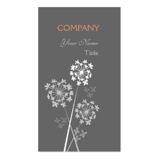 Modern Floral Elegant Fancy Dream Professional Pack Of Standard Business Cards