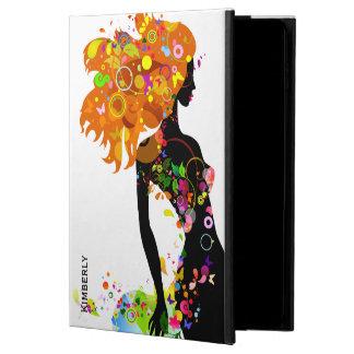 Modern Floral Fashion Girl Illustration