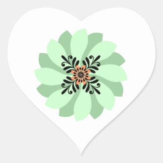 Modern Floral Green Wedding Stickers