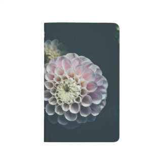 Modern floral grid-lined bullet journal